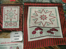 RUSTIC CHIC 2 COUNTRY CHRISTMAS STARS STRIKING DECORATIONS CROSS STITCH CHART