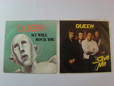 QUEEN LOT OF 2 SINGLES  WE ARE THE CHAMPIONS (FRENCH) / SAVE ME (YUGO)