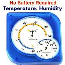 Batteryless Domestic Hygrometer Temperature Indoor Outdoor Humidity Thermometer