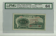 P-806s Peoples Bank of China 1948 100 Yuan SPECIMEN PMG 64 Choice Uncirculated