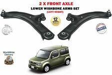 FOR NISSAN CUBE 1.5DT 1.6 Z12 2009--  NEW 2 X FRONT LEFT RIGHT WISHBONE ARMS SET