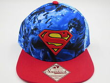 Superman DC Comics All Over Print Bioworld Collectible Snapback Hat SALE
