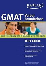 Kaplan GMAT Verbal Foundations, Kaplan, Good Book