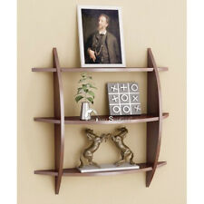Onlineshoppee Beautiful Brown 3 Tier Wooden Wall Shelves/Rack