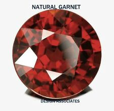 8 MM ROUND NATURAL RED GARNET VVS