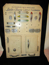 Vintage Luster Chrome Cabinet Hardware Display Board-Handles,Knobs,Hinges,Pulls