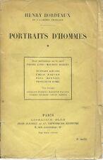 PORTRAITS D'HOMMES - par HENRY BORDEAUX - TOME 1  - 1924