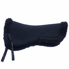 Shires Airflow Pad with Fleece Half Pad Saddle Pad - Black NEW