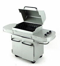 Dolls House Deluxe Silver BBQ Barbecue Grill Miniature 1:12 Garden Furniture
