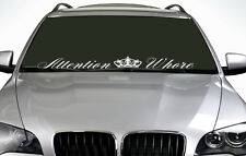 90cm Attention Whore ANY COLOUR Windscreen Sticker JDM Drift Car Vinyl Decal