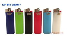 Bic Classic Cigarette Lighters Disposable Full Size Assorted Colors - Pack of 12