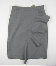 NWT J Crew Collection skirt in Italian wool flannel Sz 8 Pewter FA16 $178 F5681