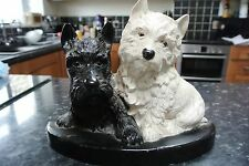 Vintage BLACK & WHITE Scotch Whisky Scottie Dogs Advertising stand / Wall decor
