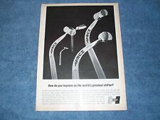 """1967 Hurst Shifters Vintage Ad """"How Do You Improve on World's Greatest Shifter"""""""