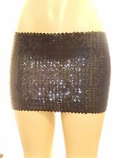 METALLIC SHINY BLING SEQUIN ELASTIC BODYCON MINI SKIRT/TUBE TOP CLUBWEAR PARTY