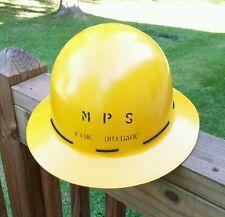 VTG MPS Fire Brigade Helmet Yellow Fiberglass Western U.S. Forest Park Service?