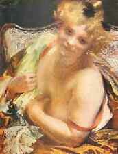 A4 Photo Besnard Albert Etude de Femme Albert Besnard 1906 Print Poster