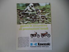 advertising Pubblicità 1973 MOTO KAWASAKI Z1 900 SUPER 4/750 MACH IV