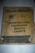 Vintage International Harvester construction equipment service charts Manual