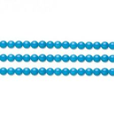 Round Malaysia Jade Beads (Dyed) Turquoise 4mm 16 Inch Strand