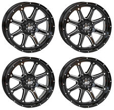 4 ATV/UTV Wheels Set 12in STI HD4 Gloss Black 4/110 5+2 IRS