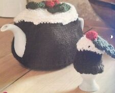 Christmas Pudding Set - tea cosy and egg cosy  Christmas Knitting Pattern