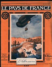 WWI Ballon-Saucisse Dirigeable militaire Aerostat Airship War 1916 ILLUSTRATION