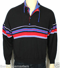 VINTAGE ADIDAS ORIGINALS BLACK TREFOIL 80S SWEATSHIRT JUMPER FRANCE RARE M SW31