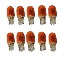 Amber 10 x 501 Capless Car Bulb Bulbs Indicator Warning Lights 5W