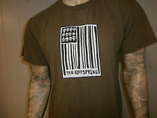 vtg 90s OFFSPRING T SHIRT Skull Punk Grunge Concert Bar Code UPC Flag Smash