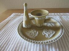 Incredible Wedgwood yellow dipped jasperware chamberstick with Snuffer
