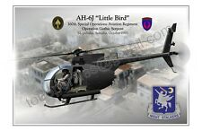 "Helicopter AH-6J ""Little Bird"" 160th SOAR - POSTER PROFILE -"