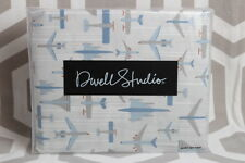 NIP Dwell Studio Dwellstudio Flight Twin Duvet Cover and Sham $149 Boys Planes
