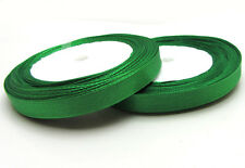 """Free shipping 3/8"""" 25Yards Solid color Satin Ribbon Wedding  Party Hole Green"""