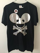 Hot Topic New DEAD MAU5 T-Shirt Silver Against Black Slim Fit - M