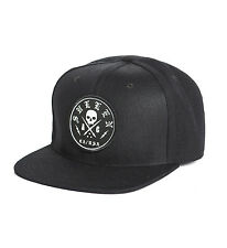 Sullen Bolted Tattoo Punk Goth Rocker Skeleton Adult Snapback Hat SCA0107