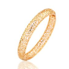 Stunning lady chains Swarovski crystal statement bangle 18K gold filled bracelet
