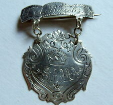Antique Sterling S.D.D. Engraved Award Medal Pin