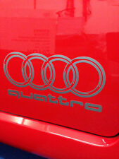 2 Audi Quattro Logo  Stickers,Graphics,Decals Colour Choice