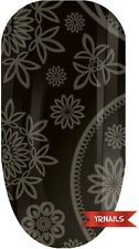 Nail WRAPS Nail Art Water Transfers Decals - Charcoal Paisley - W088