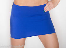 MINI SKIRT SIZE 4-6 BLUE ROYAL STRETCH LYCRA SPANDEX TIGHT DANCER PARTY CLUB S55