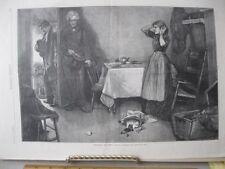Vintage Print,BREAKING THE NEWS,Harpers,Pyle,August 1879