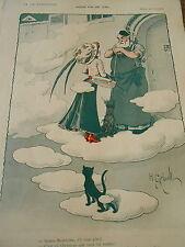 Mode Fin de Ciel Ste Madeleine Archangine Auréole Print Art Déco 1908