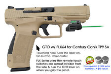 ArmaLaser GTO for Century Canik TP9 SA - GREEN Laser Sight w/ FLX64 Grip Touch