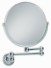 Heritage Extended Mirror Swivel x3 Magnification Side Chrome Finish 285x275mm