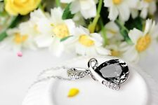Fashion Womens Jewelry Silver Chain Crystal Rhinestone Pendant Necklace Gift