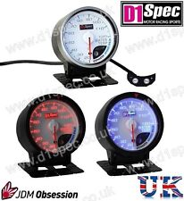 D1 SPEC UNIVERSAL RACING WATER TEMPERATURE GAUGE 60mm WHITE DIAL JDM RALLY DRIFT