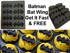 Batman Silicone Cake Crayon Chocolate Soap Ice Mold Mould Bat Wing Comic Hero