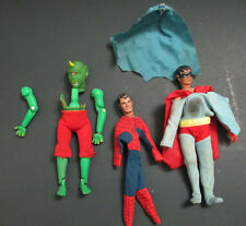 FAMOUS MONSTERS OF LEGEND CYCLOPS AND MEGO SUPERMAN SPIDERMAN PARTS LOT!