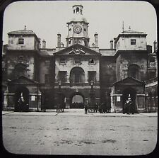 Glass Magic Lantern Slide HORSEGUARDS LONDON C1890 PHOTO ENGLAND